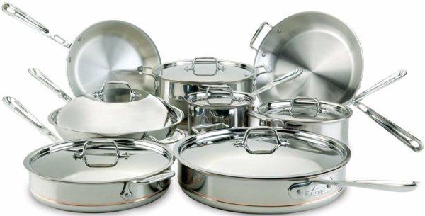 All Clad Copper Core 14 Pc Cookware Set Novelty Shop
